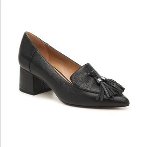 FRANCO SARTO Crane black block heel loafers 10
